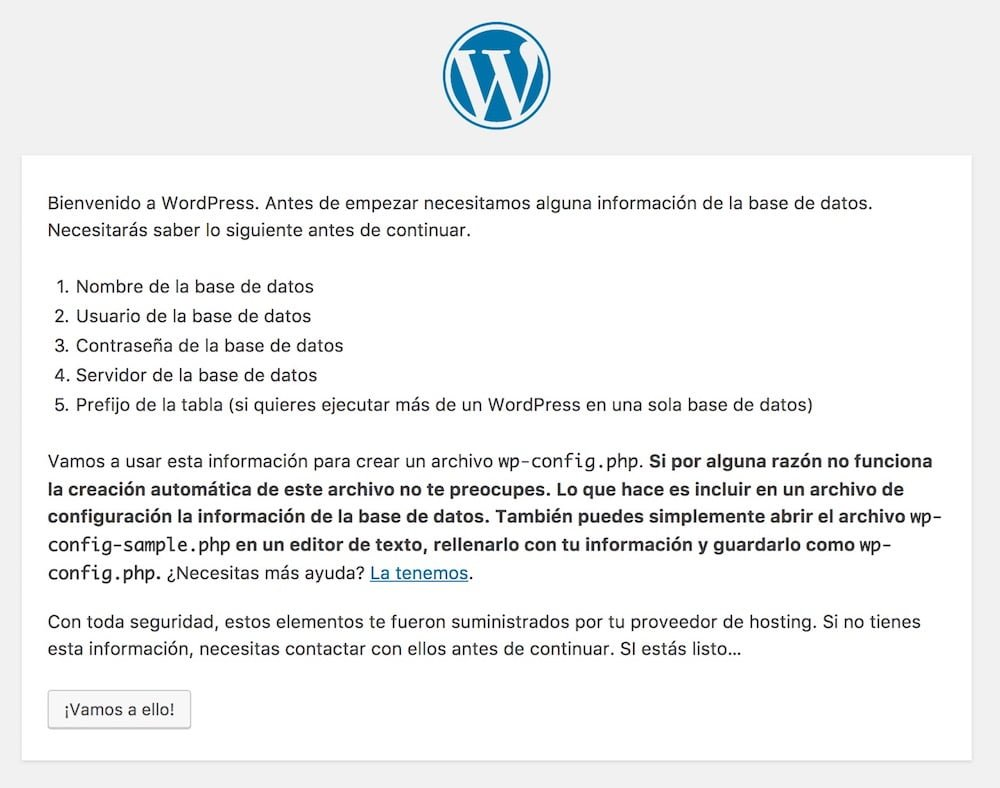 instalador wordpress